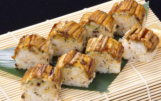 炙り穴子の棒寿司